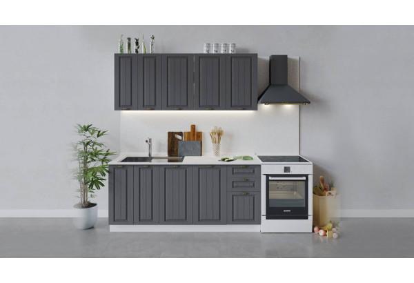 Кухонный гарнитур «Лина» длиной 180 см (Белый/Графит) - фото 1