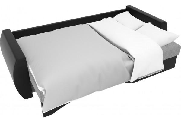 Угловой диван Сатурн Серый/черный (Рогожка/Экокожа) - фото 7