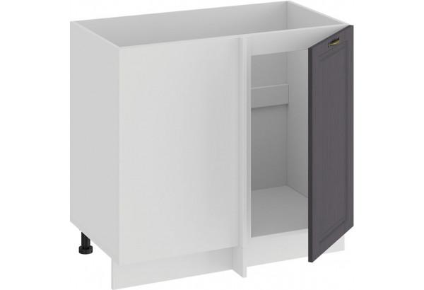 Шкаф напольный угловой «Лина» (Белый/Графит) - фото 2