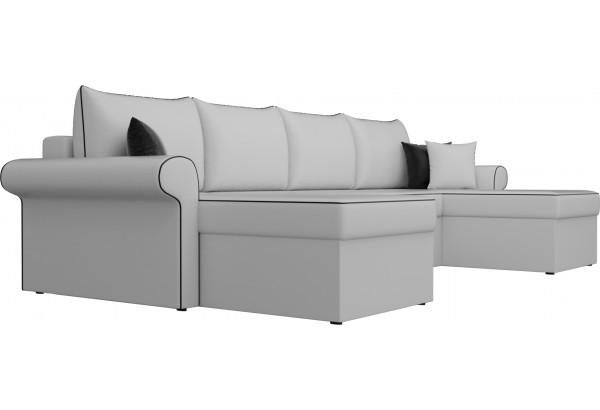 П-образный диван Милфорд Белый (Экокожа) - фото 3