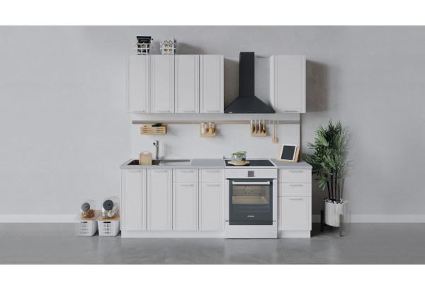 Кухонный гарнитур «Ольга» длиной 160 см (Белый/Белый) - фото 1