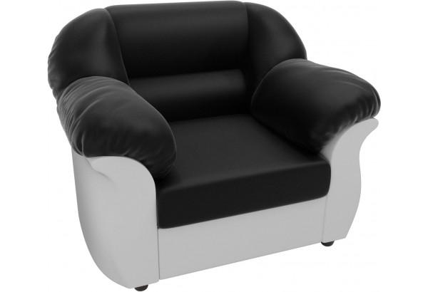 Кресло Карнелла Черный/Белый (Экокожа) - фото 3