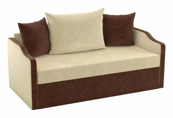Детский диван Дороти бежевый/коричневый (Микровельвет) - фото 1