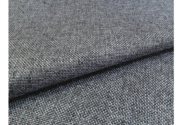 П-образный диван Дубай Серый/черный (Рогожка/Экокожа) - фото 5