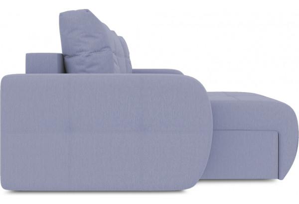 Диван угловой левый «Томас Slim Т1» (Poseidon Blue Graphite (иск.замша) серо-фиолетовый) - фото 5