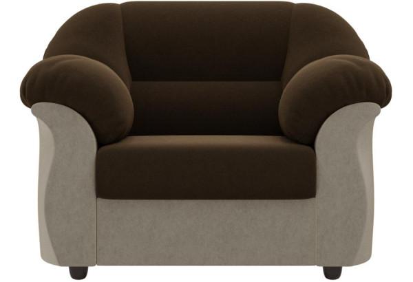 Кресло Карнелла Коричневый/Бежевый (Микровельвет) - фото 2