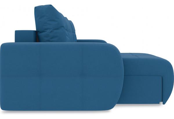 Диван угловой левый «Томас Т1» Beauty 07 (велюр) синий - фото 4