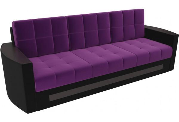 Диван прямой Белла Фиолетовый/Черный (Микровельвет) - фото 4