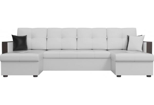 П-образный диван Валенсия Белый (Экокожа) - фото 2