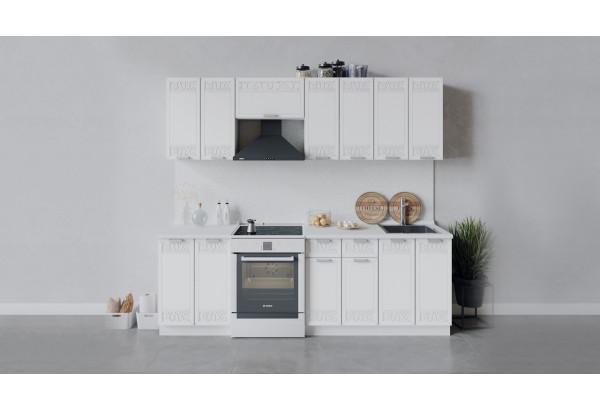 Кухонный гарнитур «Долорес» длиной 240 см (Белый/Сноу) - фото 1