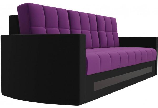 Диван прямой Белла Фиолетовый/Черный (Микровельвет) - фото 3