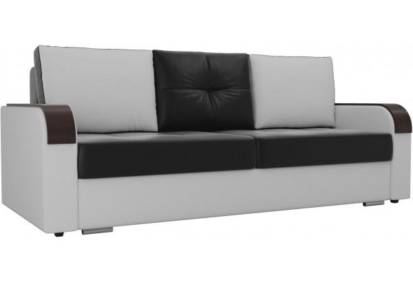 Прямой диван Мейсон Черный/Белый (Экокожа) - фото 1