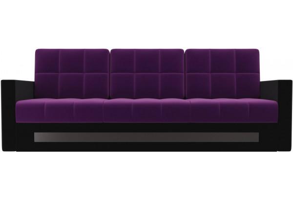 Диван прямой Белла Фиолетовый/Черный (Микровельвет) - фото 2