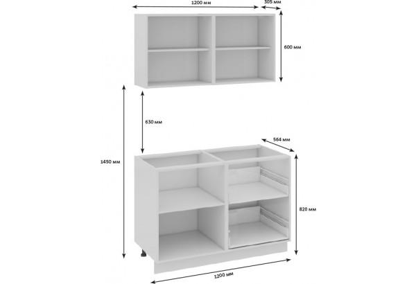 Кухонный гарнитур длиной - 180 см Фэнтези (Белый универс)/(Вуд) - фото 3