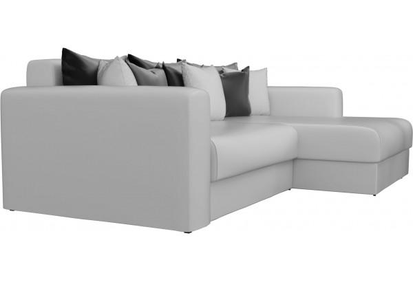 Угловой диван Мэдисон Белый (Экокожа) - фото 4