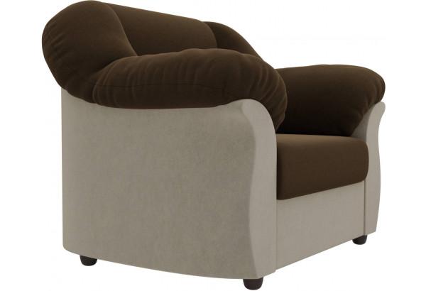 Кресло Карнелла Коричневый/Бежевый (Микровельвет) - фото 4