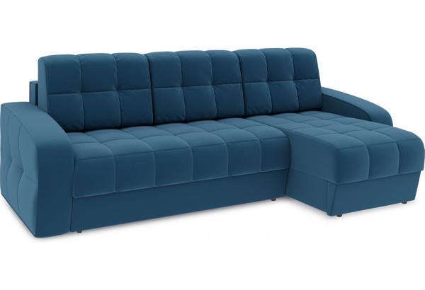 Диван угловой правый «Аспен Т1» Beauty 07 (велюр) синий - фото 1