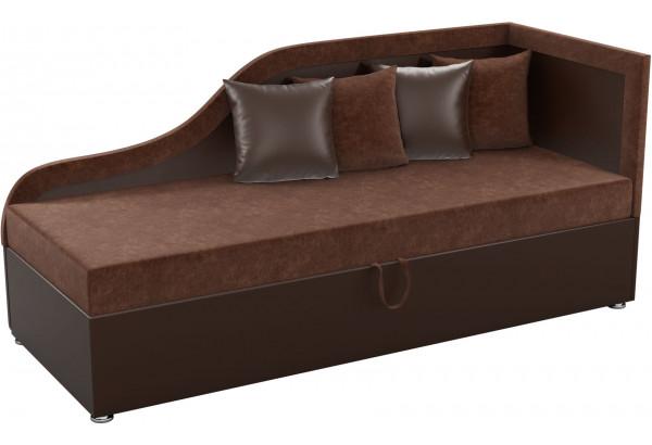 Детский диван Дюна коричневый/коричнева (Микровельвет) - фото 1
