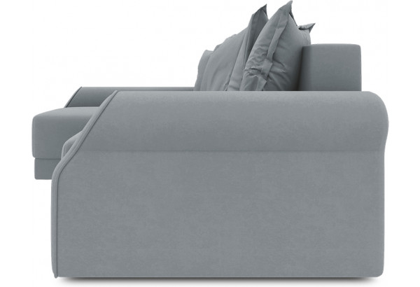Диван угловой левый «Люксор Т2» (Kolibri Silver (велюр) серый) - фото 3