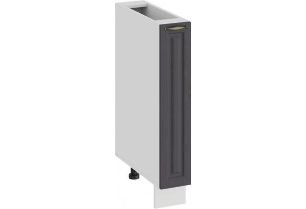 Шкаф напольный с выдвижной корзиной «Лина» (Белый/Графит) - фото 1
