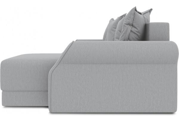 Диван угловой правый «Люксор Т1» (Poseidon Grey (иск.замша) серый) - фото 5