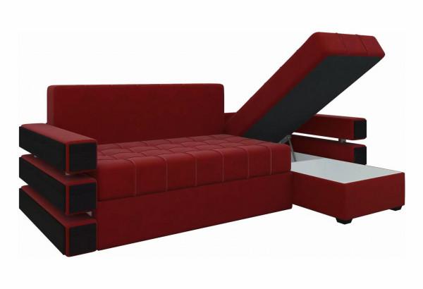 Угловой диван Венеция Красный (Микровельвет) - фото 3