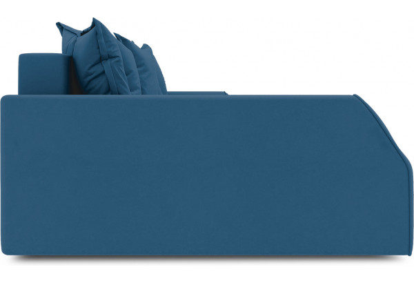 Диван угловой левый «Люксор Slim Т2» (Beauty 07 (велюр) синий) - фото 5