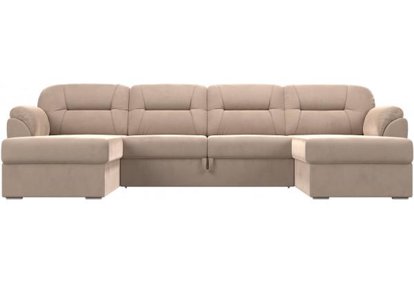 П-образный диван Бостон Бежевый (Велюр) - фото 2