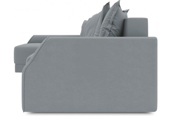 Диван угловой левый «Люксор Slim Т2» (Kolibri Silver (велюр) серый) - фото 3