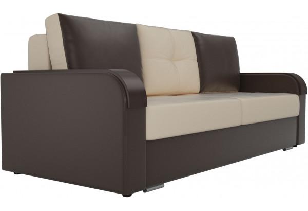 Прямой диван Мейсон бежевый/коричневый (Экокожа) - фото 3