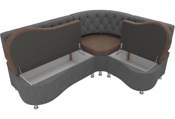 Кухонный угловой диван Вегас коричневый/Серый (Рогожка) - фото 5