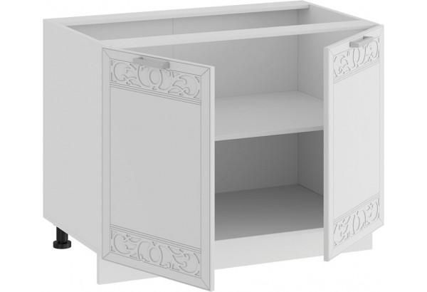 Шкаф напольный с двумя дверями «Долорес» (Белый/Сноу) - фото 2