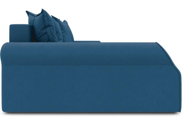 Диван угловой левый «Люксор Т2» Beauty 07 (велюр) синий - фото 4