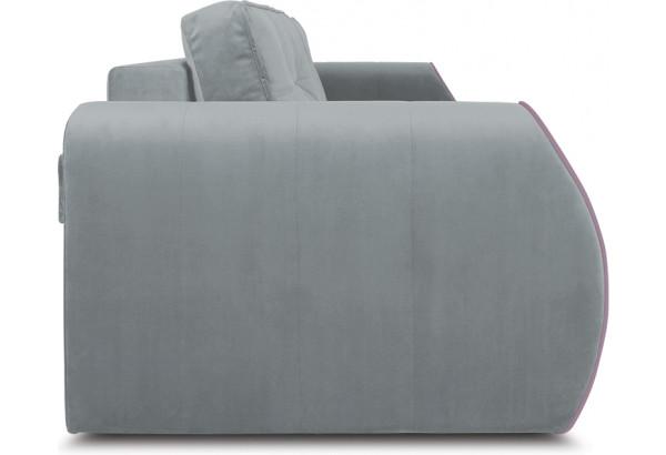 Диван «Хьюго» (Fenix Silver (микровелюр) Светло - серый кант Fenix Lilac (микровелюр) Лиловый) - фото 3