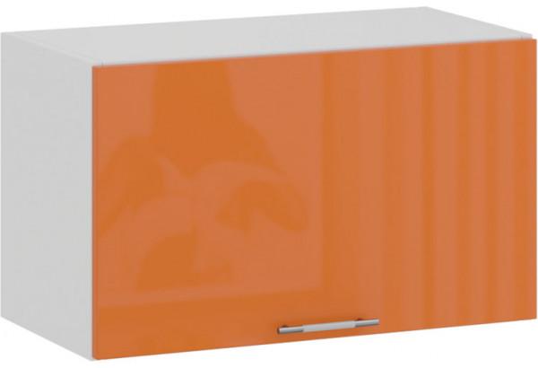 Шкаф навесной c одной откидной дверью «Весна» (Белый/Оранж глянец) - фото 1