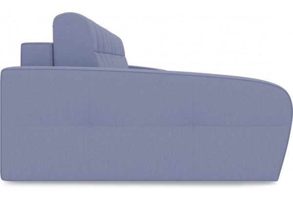 Диван угловой левый «Аспен Slim Т2» (Poseidon Blue Graphite (иск.замша) серо-фиолетовый) - фото 4