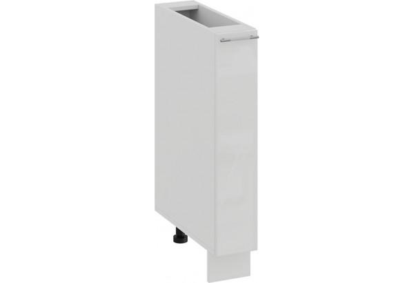 Шкаф напольный с выдвижной корзиной «Весна» (Белый/Белый глянец) - фото 1
