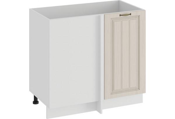 Шкаф напольный угловой «Лина» (Белый/Крем) - фото 1