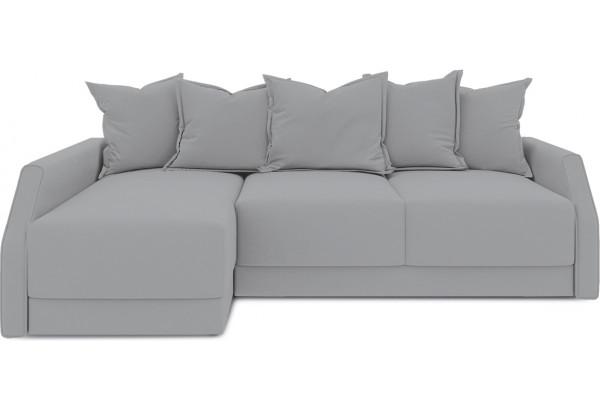 Диван угловой левый «Люксор Slim Т2» (Poseidon Grey (иск.замша) серый) - фото 2