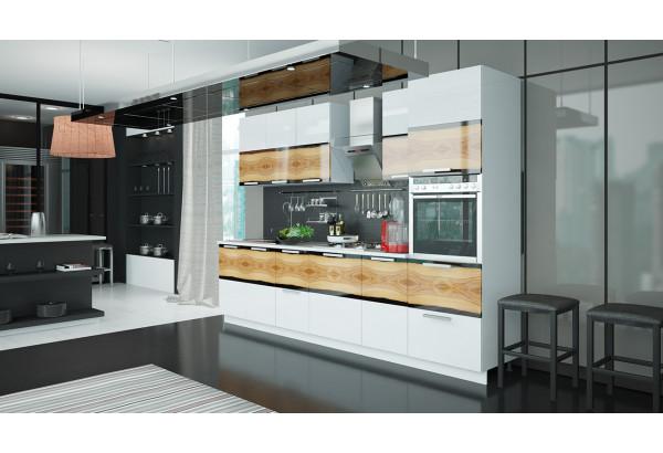 Кухонный гарнитур длиной - 300 см (с пеналом ПБ) Фэнтези (Вуд) - фото 2