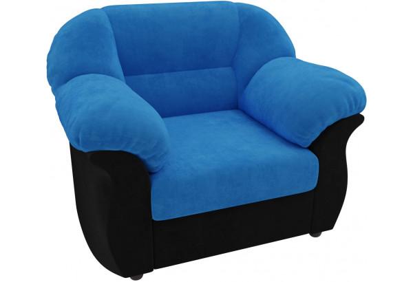 Кресло Карнелла голубой/черный (Велюр) - фото 3