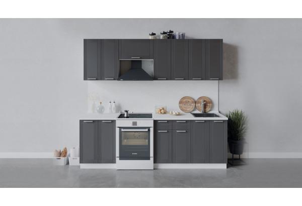 Кухонный гарнитур «Ольга» длиной 240 см (Белый/Графит) - фото 1