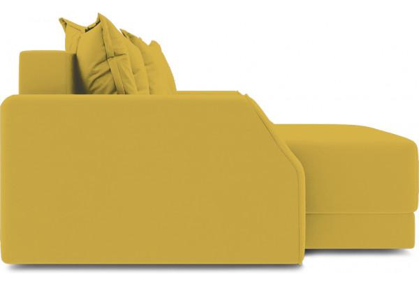 Диван угловой левый «Люксор Slim Т1» (Poseidon Curcuma (иск.замша) желтый) - фото 5