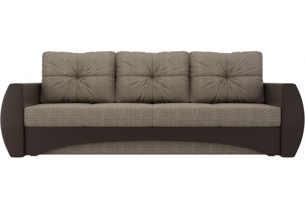 Прямой диван Сатурн коричневый/коричневый (Корфу/экокожа) - фото 2