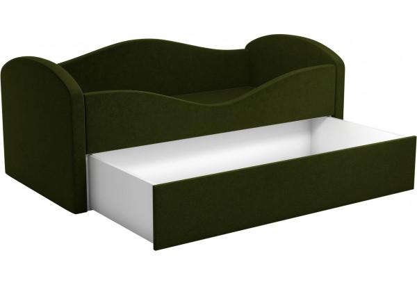Детская кровать Сказка Зеленый (Микровельвет) - фото 2