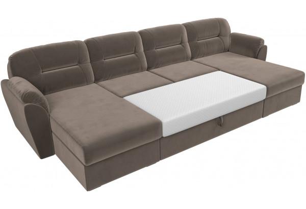 П-образный диван Бостон Коричневый (Велюр) - фото 7