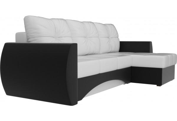 Угловой диван Сатурн Белый/Черный (Экокожа) - фото 3
