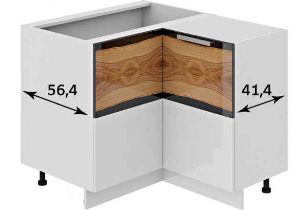 Шкаф напольный нестандартный угловой с углом 90° Фэнтези (Вуд) - фото 2