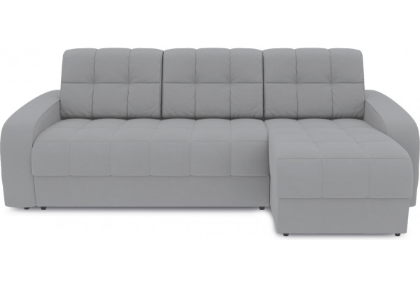 Диван угловой правый «Аспен Т1» (Poseidon Grey (иск.замша) серый) - фото 2