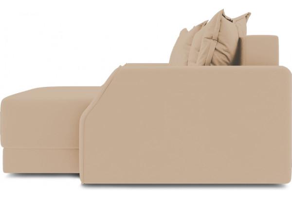 Диван угловой правый «Люксор Slim Т1» (Poseidon Caramel (иск.замша) карамельный) - фото 5